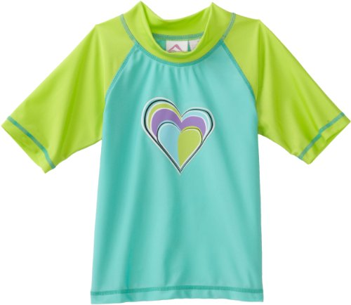 Kanu Surf Girls 7-16 Sweetheart UV Rashguard Shirt, Green, Small 8