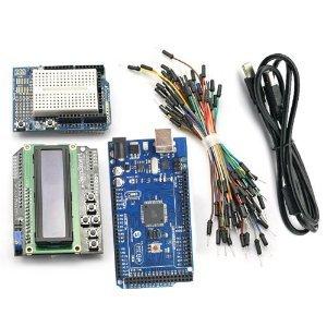 SainSmart C18 carte de développement kit,Compatible Mega2560 microcontrôleur aves 1602 bouclier clavier LCD et Shield de prototypage