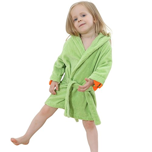 IDGIRL Cartoon Animal Dinosaur Style Hooded Bathrobe Baby Towel 7JY0245-Green L (Toddler Hooded Robe compare prices)