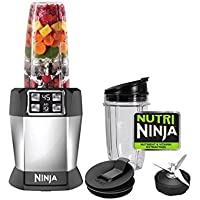 Nutri Ninja Auto-iQ 1000W Digital Blender with Pulse and 2 Cups - Certified Refurbished
