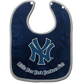 New York Yankees White Baby Bib