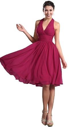 edressit robe de soireemariageceremoniebapteme rose encolure v col - Vetement Femme Ceremonie Mariage