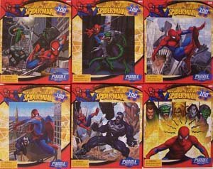 Spiderman 100-piece Jigsaw Puzzle- styles vary.