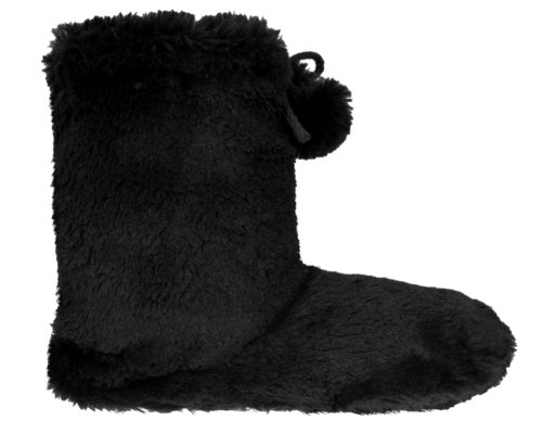 Cheap Capelli New York Long Pile Bunny Fur Boot With Fleece Lining Ladies Slipper (B00495SX6K)