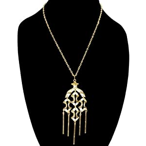 Vintage 1970S Articulated Medallion Necklace, Unsigned Jonette Jewelry, USA!, in Gold