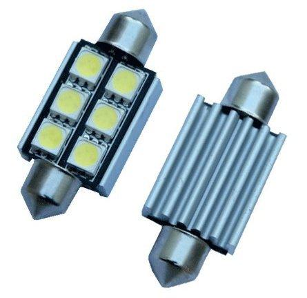 "Cutequeen 10Pcs Canbus Error Warning Free White 36Mm(1.50"") 5050 6-Smd 6Smd 12V Festoon Dome Light Led Bulbs For Rv 3021 De3021 6411 6413 6418 De3423 De3425 (Pack Of 10)"
