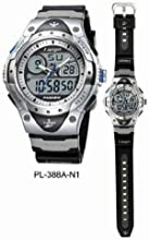 PASNEW High Quality Water-proof Dual Time Unisex Teens Sport Watch BlackRed