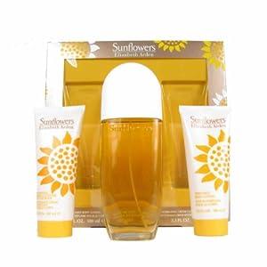 Elizabeth Arden Sunflower Eau De Toilette 100ml/ Body Lotion 100ml and Cream Cleanser 100ml Gift Set for Her
