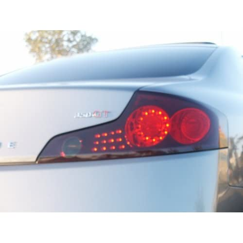 Amazon.com: Infiniti G35 2Dr Tail Lights Taillight Overlays GTR Style