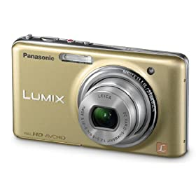 Panasonic Lumix DMC-FX78 12.1 MP Digital Camera with 5x f/2.5 Ultra Wide Angle Optical Image Stabilized Zoom Lens and 3.5-Inch Touch LCD  (Gold)