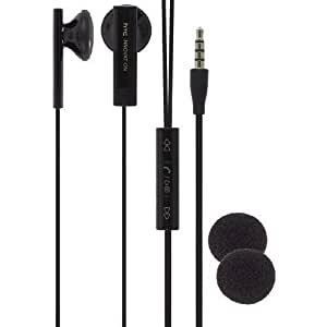 New Original OEM HTC Black Wired Stereo Headset Headphone Earphone Earbud with Remote Controller,Mic, 36H00880-04M