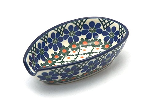 Polish Pottery Spoon Rest - Primrose (Polish Stoneware Spoon Rest compare prices)