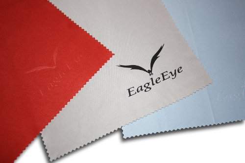 (Set Of 6) Eagle Eye Premium Reusable Microfiber Cleaning Cloths Great For Child Gaming Devices, Eyeglasses, Sunglasses, Tablets, Cell Phones, Laptops, Monitors, Tv'S, Dslr Lenses, Binoculars, Telescopes, Sporting Glasses And Many Delicate Surfaces.