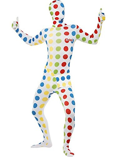 Men's Twister Second Skin Costume by Smiffy's. You'll be instantly recognisable as the popular game.