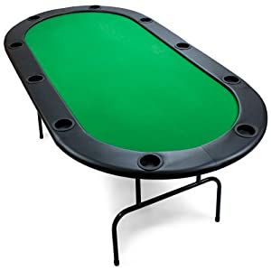 Brybelly Poker Table with Ten Cup Holders, Green, 82 x 42-Inch by Brybelly