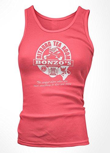 Ramones inspired Bonzos Bitburg Tea Room Canottiera, Donne, XXL, Rosa