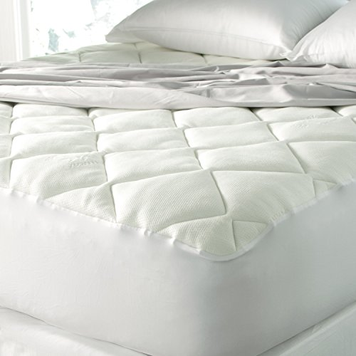 "Spa Luxe Cool Touch Bamboo Top Mattress Pad - Made In The Usa (King 78"" X 80"") front-642055"