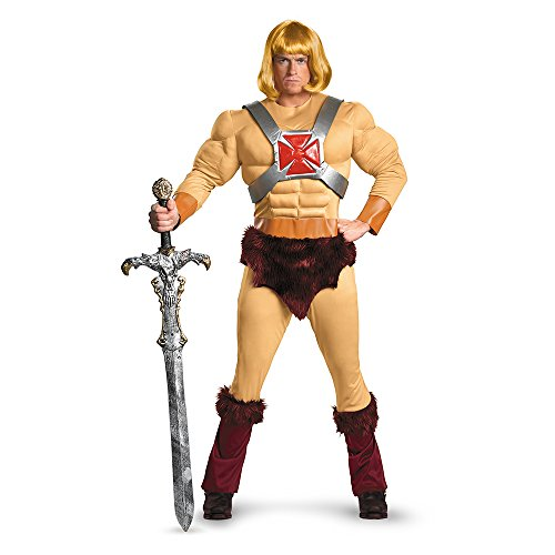 Official Men's Masters Of The Universe He-Man Classic Muscle Costume. X-Large or XXL.