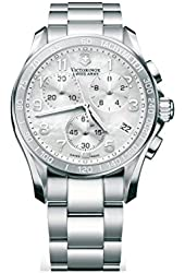 Victorinox Chrono Classic Mother of Pearl Dial Stainless Steel Ladies Watch 249002