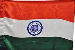 Indigo Creatives Indian Flag - Large Size (36 x 54) For Homes/ Offices/ School/ IPL, cricket