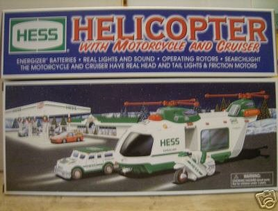 The Hess Toy Truck: Helicopter with Motorcycle and Cruiser, Limited Release 2001 - Buy The Hess Toy Truck: Helicopter with Motorcycle and Cruiser, Limited Release 2001 - Purchase The Hess Toy Truck: Helicopter with Motorcycle and Cruiser, Limited Release 2001 (Hess Toy Trucks, Toys & Games,Categories,Play Vehicles,Vehicle Playsets)