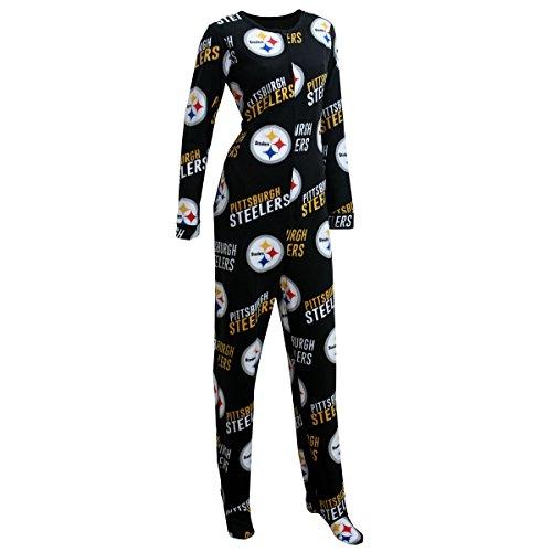 Pittsburgh Steelers Wildcard Women's Union Sleep Suit / Onesie at Steeler Mania