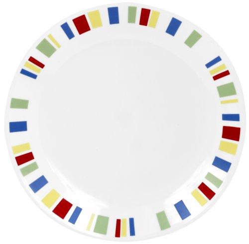 Corelle Livingware 10-1/4-Inch Dinner Plate, Memphis (Corelle Dinnerware Memphis compare prices)