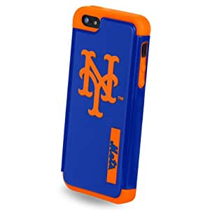 Forever Collectibles MLB Dual Hybrid iPhone 5/5S Rugged Case - Retail Packaging - New York Mets
