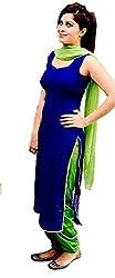 Mastani Kreation Women's Faux Georgette Unstitched Salwar Suit Dress Material (MKBG-1003G_Blue)