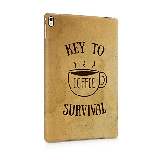 Coffee The Key To Survival Quote Hard Plastic Tablet Case Cover For Apple iPad Pro 9.7
