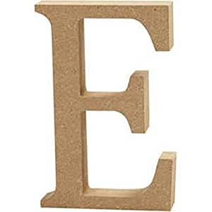 Large 130mm wooden mdf letter shape to decorate e for Large wooden letters amazon