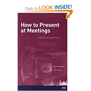 How To Present At Meetings George Hall
