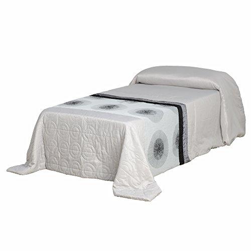 Lola Derek - Colcha 180x260 pop gris de poliéster para dormitorio Fantasy
