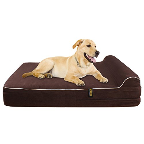 Extra-Large-7-Orthopedic-Memory-Foam-Dog-Bed-With-3-Pillow-Includes-Waterproof-Inner-Protector-Dark-Chocolate-Color