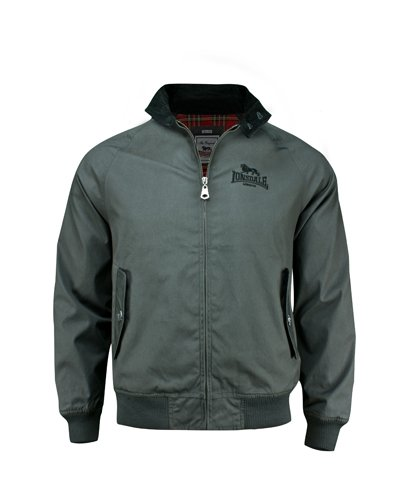 Lonsdale - Exeter, Giacca Uomo, Grigio (anthrazit), Small (Taglia Produttore: M (UK S)