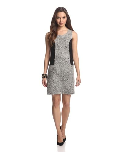 JB by Julie Brown Women's Tweed Dress with Leather Trim