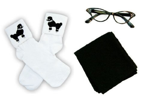 Hip Hop 50S Shop Child 3 Piece Accessories - Child Size Black
