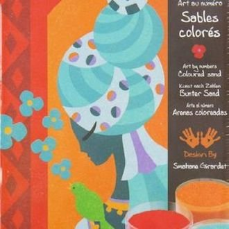 Djeco / Colored Sand Art By Numbers, Blue Princesses (Sand Art By Numbers compare prices)