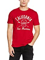 Levi's Camiseta Manga Corta Graphic Set-In Neck 2 (Rojo Oscuro)