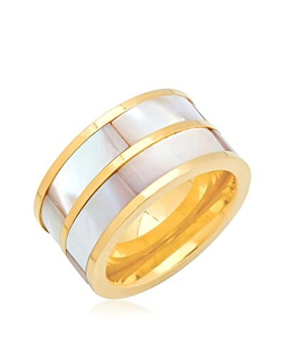 Piatella 18K Gold-Plated Mother of Pearl Band Ring