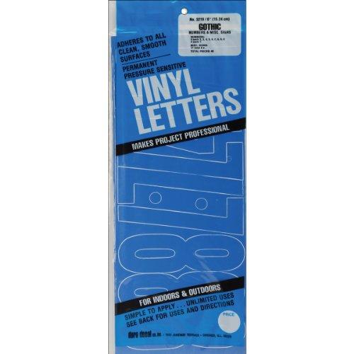 "Permanent Adhesive Vinyl Numbers 6""-Gothic/Blue"