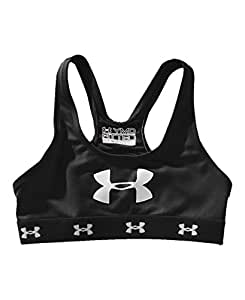 Under Armour Big Girls' Mesh Sports Bra Youth Small Black