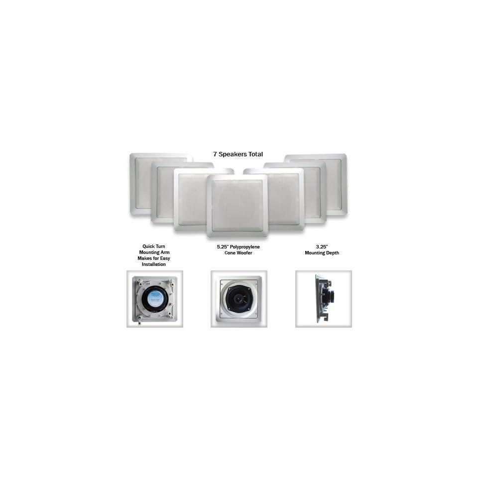 Acoustic Audio S191 7PKG 200 Watt 5.25 In Wall/Ceiling Home Speakers