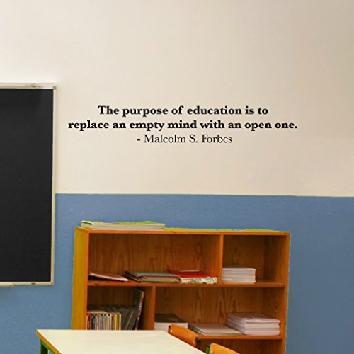 educational-wall-quotes-removable-vinyl-decal-inspirational-the-purpose-of-education-is-to-replace-a