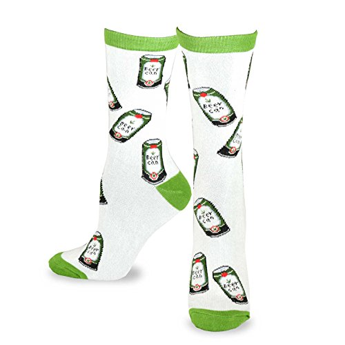 TeeHee Food Theme Crew Socks for Women - Beer Can