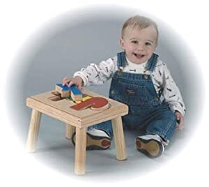 Personalized Wooden Childrens Name Stool from HollowWoodworks