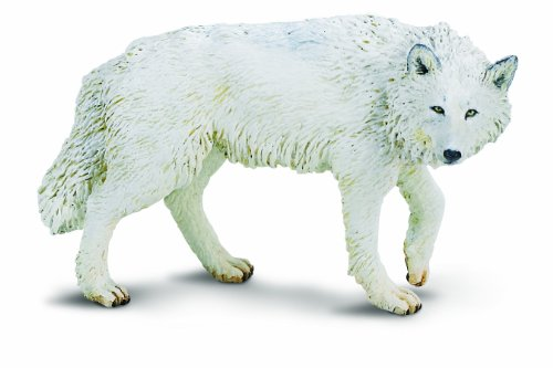 Safari Ltd - White Wolf Figure 220029, Hand-painted and Phthalate-free