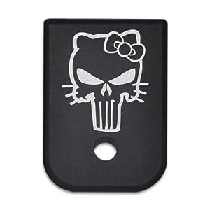 Magazine Base Floor Plate for Glock Pistols - 9mm & 40cal Hello Kitty Skull