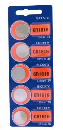 Sony Lithium 3V Batteries Size CR1616 (Pack of