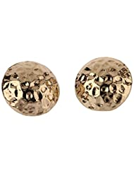 Covo Stud Earrings For Women (Golden) (ER-49466)